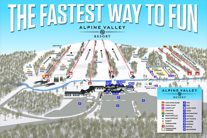 Alpine Valley Resort Trail Map