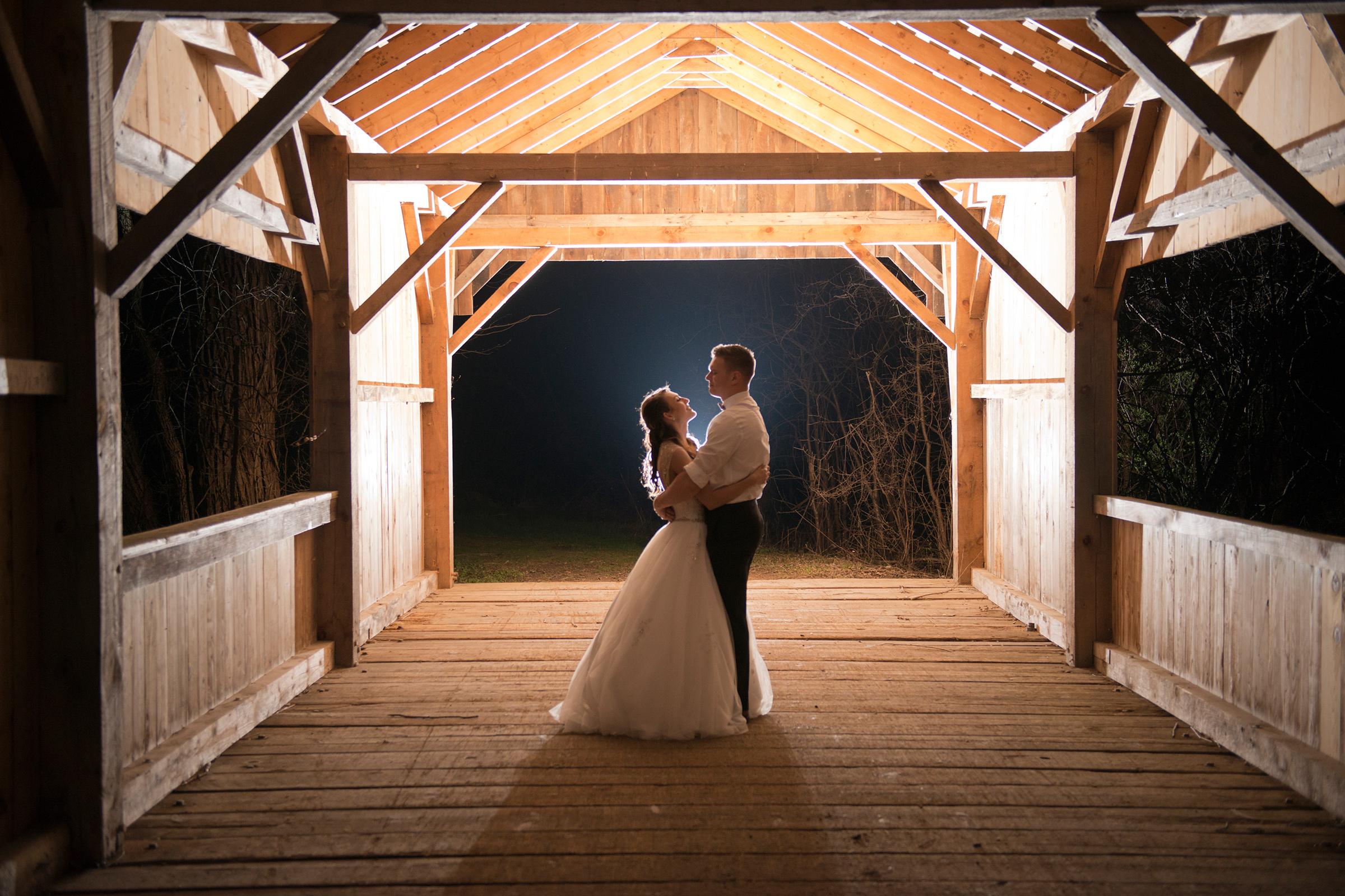 Wedding Barn At Night