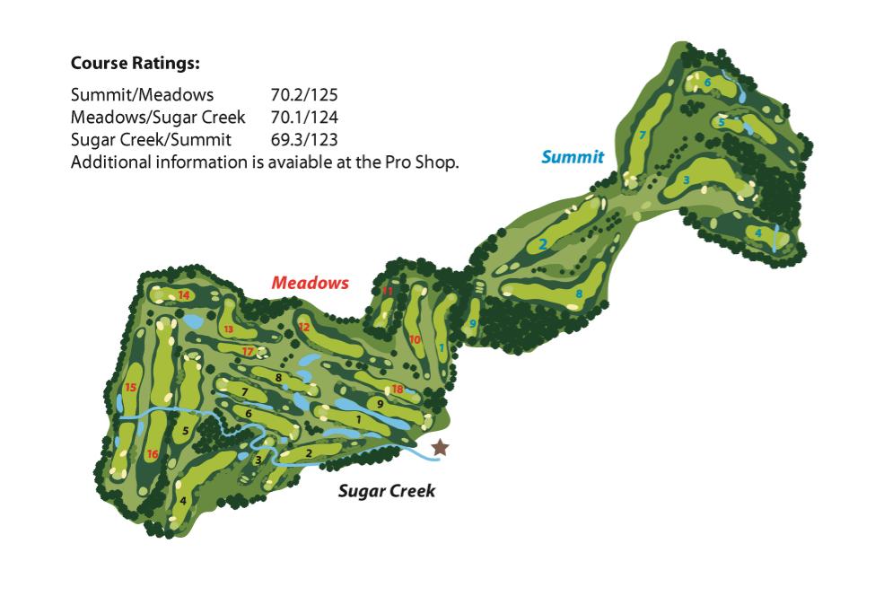 Alpine Valley Resort Course Map